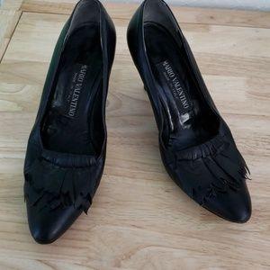 Mario Valentino black pumps heels 6.5